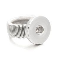18mm verstellbarer ring großhandel-Hot verstellbare austauschbare Metall Xinnver Schnappringe modisch flexible Passform 18MM Druckknöpfe DIY Montage Großhandel ZH009