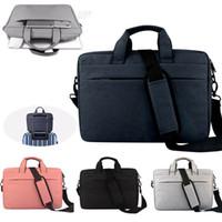 omuz taşıma çantası toptan satış-Polyester Laptop Messenger Omuz Çantası 13.3-15.6 Inç Macbook Bilgisayarlar Için Kılıf Kapakları Dizüstü PC Crossbody Çanta Çanta Taşıma Evrak