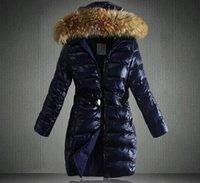 ağır bayanlar toptan satış-2019 Kadınlar kış Kapşonlu uzun Aşağı ceket kadınlarda kalınlaşma İnce Ağır saç yaka Pamuk dolgulu giysiler ceket S-XXXL uygun olan