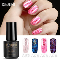 Wholesale ROSALIND Gel Nail Polish Set for nail ML Gel Lacquer Luminous Rose Gold Long Lasting Manicure Hybrid Varnish Art Tops