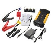 pil şarj cihazı 12v toptan satış-88000 mAh 4 USB Araç Acil Atlama Marş Şarj Booster Güç Bankası Pil Kiti