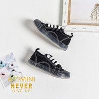 zapatos de gelatina de marca al por mayor-Zapatos de moda de diseñador para niños 2019 Zapatos de lona de color sólido para niñas de marca Venta caliente para niños Zapatos de gelatina de fondo suave de moda