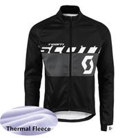 scott ciclismo tops venda por atacado-SCOTT homens inverno Ciclismo Inverno Térmica Velo jersey Respirável popular Slim fit Manter quente personalizável 61003X