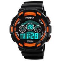 alarme de data venda por atacado-A vida das crianças quentes à prova d 'água LED digital relógio esportivo relógio de presente relógio de alarme para crianças