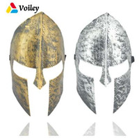 ingrosso decorazioni antiche di halloween-Halloween Party Spartan tema Spartan Warrior Helmet Mask Decorazione Adulto Cosplay Masquerade Ball Antique Mask Sport Fascia, 7