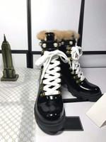 verkauf stiefel bestickt groihandel-Hot Sale-d Toe Martin Boots Buckle Strap Chunky Heel Runde Zehe-Mode Gestickte Ankle Boots