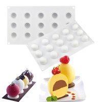 Wholesale bread pudding for sale - Group buy 15 Cavities Round Ball Shaped D Silicone Molds Mini Truffle Baking Cake Mold for chocolate Dessert Muffin bread Brownie Pudding