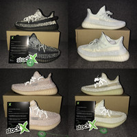 Wholesale full shoes men for sale - Group buy Lundmark Reflective Kanye West Luxury Shoes GID Green Men Women Designers Casual Shoes V2 Cloud White Black Static Full Reflective Sneaker