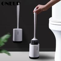 banyo malzemeleri toptan satış-Tpr Silikon Zemin ayakta Duvara monte Taban Temizleme Fırçası Tuvalet Wc Banyo Aksesuarları Için Set Ev Eşyaları Q190603