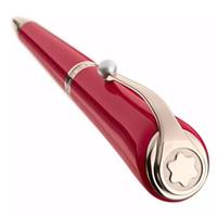 bolsas de regalo de marca al por mayor-Lápiz de lujo Marca de MB pluma Edición limitada Musas Marilyn Monroe firma bolígrafos clásicos con el Clip de la perla bolígrafos de regalo + Regala bolsas de terciopelo
