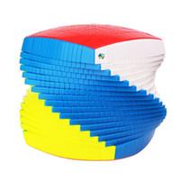 primeros juguetes de plastico al por mayor-Yuxin 17x17x17 Recopilación de cubos de plástico rompecabezas de juguete del mundo primer cubo mágico colorido producido en masa con buen precio