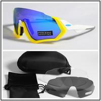 jacke fahrrad großhandel-Polarisierte radfahren brille outdoor sport fahrrad brille fahrrad sonnenbrille radfahren sonnenbrille eyewear 3 lens flight jacket