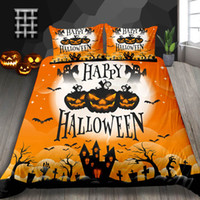 Wholesale hot 3d bedding set for sale - Group buy Halloween Gifts Bedding Set Single Size Classic D Print Duvet Cover Hot Selling King Queen Double Full Twin Bed Cover with Pillowcase