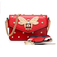 Wholesale bee cell resale online - Brand Bag Women Messenger Bags Little bee Handbags crossbody bags for Ladies Shoulder Bag White Black Pink Red V191114