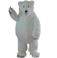 trajes por encargo para la venta al por mayor-Venta directa de fábrica por encargo blanco oso polar traje de la mascota oso blanco mascota personalizada