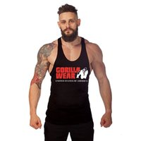 gorilla tanks großhandel-GORILLA WEAR Gyms Markenkleidung Bodybuilding Fitness Herren Tank Top Gorilla Wear Print Weste Stringer Sportswear Tank Top