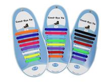 atar cordones de los zapatos al por mayor-16pcs / cordones de silicona lote cordones de zapato elástico especial n lazo del cordón para el Hombres Mujeres Cordón de goma Zapatillas 13 colores