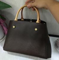 Wholesale big women resale online - Designer Bags MONTAIGNE Tote Women Luxury Leather Shoulder Bags purse Floral Print Handbags Crossbody big shopper Bag Business Laptop bag