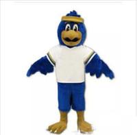 Wholesale kit outfit for sale - Group buy Falcon Mascot Costume Adult Size Cartoon Character Eagle Bird Mascotte Mascota Outfit Suit Fancy Dress Suit Fit Kit