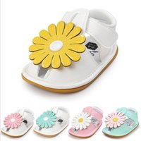 Wholesale new sandals styles online - 1 T baby girl sandals summer new style kids girl flower shoes soft bottom non slip
