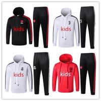 çocuklar kış eşofman toptan satış-18 Ronaldo Çocuklar hoodie kazak kış futbol formaları takım elbise spor Real Madrid Uzun Kollu kitleri Manchester Ünitesi çocuklar futbol eşofman