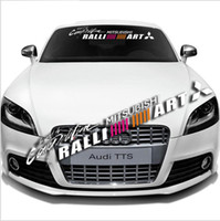 Wholesale car ralliart for sale - Auto Car Front Rear Windshield Window Banner Vinyl Emblem Decal Reflective for Ralliart Mitsubishi Racing Sticker