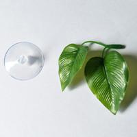 ingrosso aquatic plant-Simulazione Pianta Foglia Acquario Pesce Acquatico Foglie di erba Pesce deposto foglie Ornamenti Decorazione serbatoio Prodotti per animali domestici