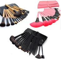 Wholesale cosmetic brushes case resale online - Professional Make up Brush Set Makeup Brushes Beauty tools Toiletry Brush Set Kit Tool Roll Up Case Cosmetic ePacket