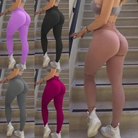 Wholesale fitness yoga pants women for sale - Women Solid Legging Workout Yoga Jeggings Fitness Skinny Tights Gym Sports Stretch Fit Training Dancing Pants Slim Capris LJJA2315