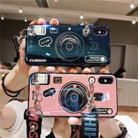 iphone 3d kamera durumlarda toptan satış-Moda Silikon Kılıf Samsung Galaxy S10 Artı S9 S8 Not9 8 M30 M20 A10 A8S A30 A40 A50 A70 A80 A80 3D Kamera Bluray İpi Ile Yumuşak Caver
