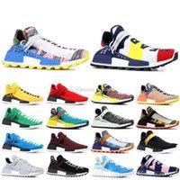 Wholesale tan tie resale online - 2019 Cheap HUMAN RACE Pharrell Williams Men s Women s Mc Tie Dye Solar Pack Mother designer Fashion Sport Shoes With Box