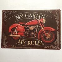 ingrosso giardino segno-My Garage My Rules Vintage Metal Sign Decorativo Cafe Bar Garden Room Garage Club Gas Station Dipinto Retro Poster
