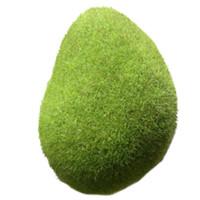 ingrosso pietra verde per la decorazione-5 pz artificiale verde muschio palla finta pietra simulazione pianta decorazione fai da te per la decorazione della finestra pianta della parete