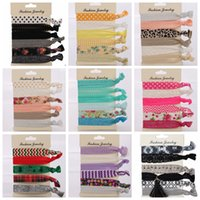 Wholesale crochet flower headband woman for sale - Group buy 6PCS Set Candy Color Hair Tie Set Trendy Elastic HairBand Fashion Hair Rop Hairband Women Accessories dots striped floral design