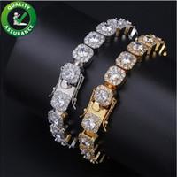 bling liebesarmbänder großhandel-Diamant Tennis Armband für Liebe Luxus Designer Hip Hop Schmuck Herren Gold Armbänder Bling Armreif Iced Out Ketten Charms Rapper Zubehör