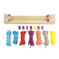 starke armbänder großhandel-DIY Starke Holzstockzarge Umbrella-Seil-Armband Stricken Überlebens-Armbänder flechten Framing Paracord Jigs arbeiten heiße Verkauf 9qkI1