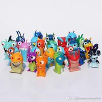 Wholesale slugterra toys for sale - 24pcs set Cartoon Mini Slugterra PVC Action Figures Toys Model Dolls For Children