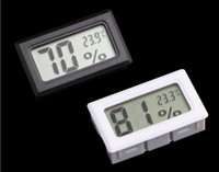 Updated Embedded Digital LCD Thermometer Hygrometer Temperature Humidity tester refrigerator Freezer Meter Monitor black white color