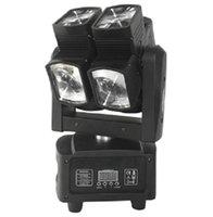 ingrosso scanner dmx-Illuminazione discoteca High Brightnes 8x10W RGBW 4in1 a testa mobile a doppio raggio LED con scanner a luce circolare