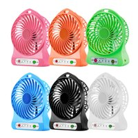 Wholesale laptop fan cooler led resale online - Mini Fan Portable LED Light Fan Mini Desk USB Charging Air Cooler Mode Speed Regulation LED Lighting Function Cooling Fan for PC Laptop