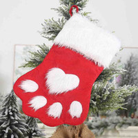 Wholesale cookies dogs for sale - Group buy Christmas Cookie Candy Package Gifts bag Gift Bag Animal Dog Xmas Stocking for Candy Home Party Packing Decoration