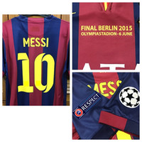 ingrosso football jerseys-RUGBY UCL finale 2015 Player commerciale shirt Edizione Jersey Messi Neymar Iniesta Xavi Rugby Football nome personalizzato Numero patch Sponsor