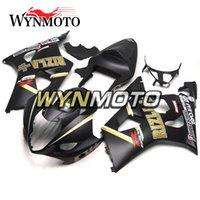 carenado negro mate gsxr al por mayor-Inyección de plástico ABS Motocicletas carenados para Suzuki GSXR1000 K3 2003 2004 03 04 Cubiertas gsxr 1000 Matte Black Gold cascos de cascos