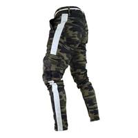 camo pantolon boyutu 28 toptan satış-Peki Askeri Çalışma Kargo Camo Savaş Artı Boyutu Pantolon Yan Şerit Kalça Pop Tarzı Streetwear Erkekler Pantolon Rahat Kamuflaj Streetw Y19071801
