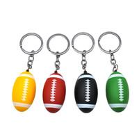 schlüsselketten rauchen rohr großhandel-Rugby-Form-Metallpfeife Art und Weise 53MM Tabakkopf Schlüsselanhänger Pfeifentabak Pfeifenfilter Pocket Size TTA1791