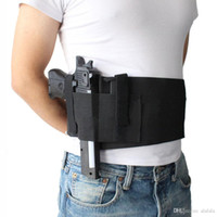 Wholesale buckle belt for sale - Group buy Tactical Adjustable Belly Band Waist Pistol Gun Holster Concealed Carry Pistol Gun Pouch Elastic Waist Pistol Holster with Mag Pouches Bag