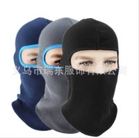 Wholesale full face paintball mask resale online - by DHL moto Winter mask Breathable Warm Fleece Thermal Windproof Balaclava Paintball Combat Neck Full Face Cap Helmets