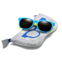 Wholesale sunglasses polaroid children resale online - With Bag Rubber TR90 Children HD Polarized Sunglasses Kids sunglasses polaroid sun glasses For Girls Boys Baby Glasses eyewear