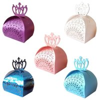 Wholesale paper cut outs for sale - Group buy Hollow Out Wedding Candy Box Crown Laser Cut Hollow Chocolate Candy Boxes Baby Shower Wedding Favors Boxes