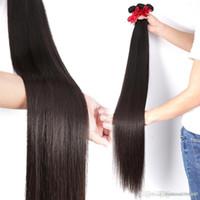 Wholesale human hair wigs extensions resale online - Brazilian wig Weave Bundles Straight Human Hair Inches Bundles Raw Virgin Weft Hair Extension